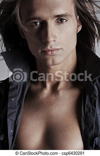 Portrait of a handsome man - csp6430291