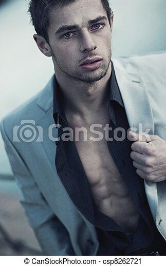Portrait of a handsome man - csp8262721