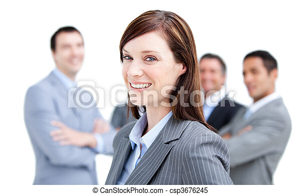 Portrait of a Happy business woman  - csp3676245