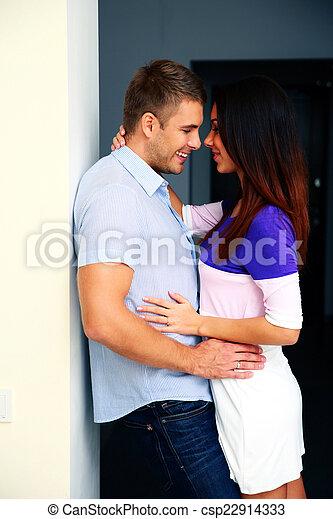 Portrait of a happy couple hugging - csp22914333