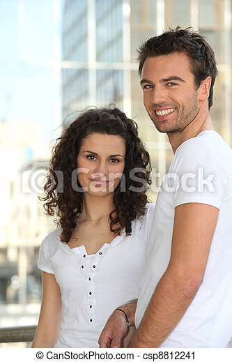 Portrait of a happy couple - csp8812241