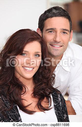 Portrait of a happy couple - csp8811698