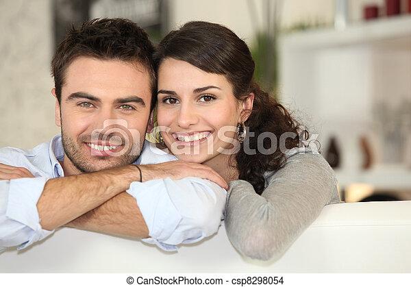 Portrait of a happy couple - csp8298054