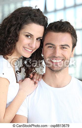 Portrait of a happy couple - csp8813679