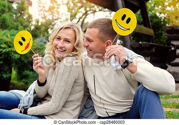 Portrait of a happy couple - csp28480003
