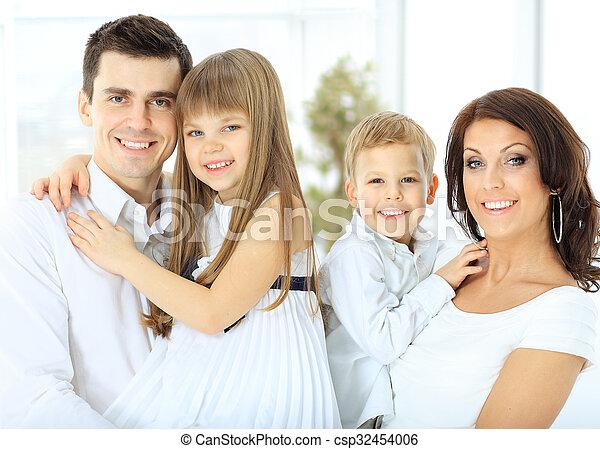 portrait of a happy family. - csp32454006