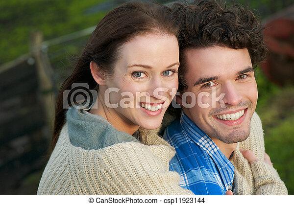 Portrait of a Happy Smiling Couple - csp11923144