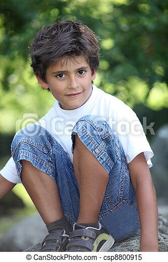 portrait of a little boy - csp8800915