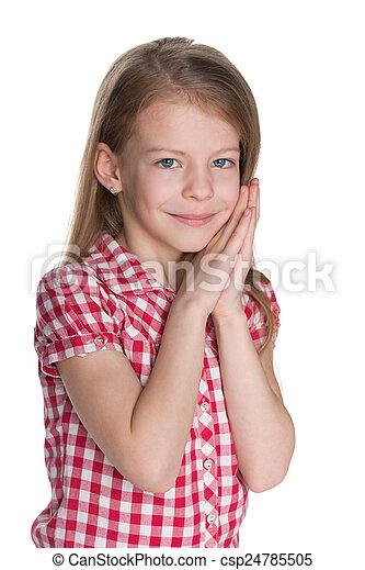 Portrait of a lovely little girl - csp24785505