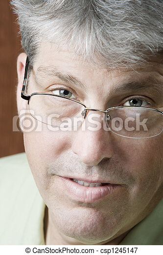 Portrait of a Man with Glasses - csp1245147