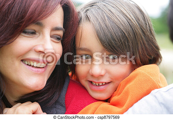 Portrait of a mother and child - csp8797569