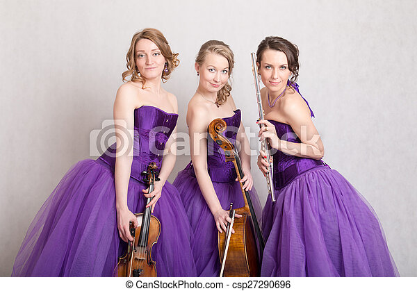 portrait of a musical trio - csp27290696