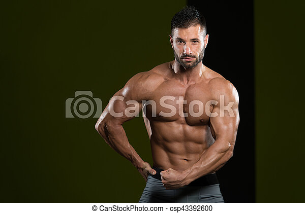 Portrait Of A Physically Fit Muscular Young Man - csp43392600