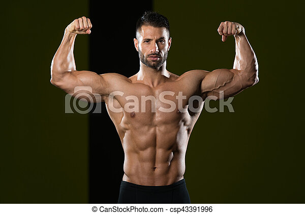 Portrait Of A Physically Fit Young Man - csp43391996