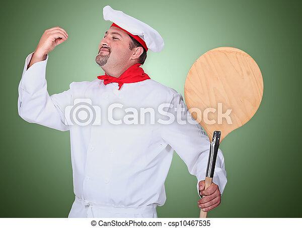 Portrait of a pizza maker - csp10467535
