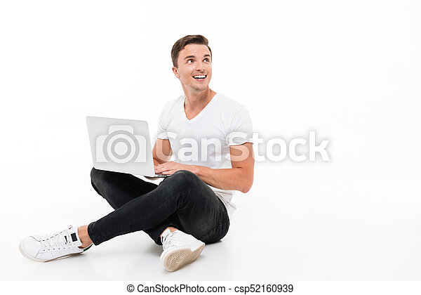 Portrait of a positive smiling man working - csp52160939