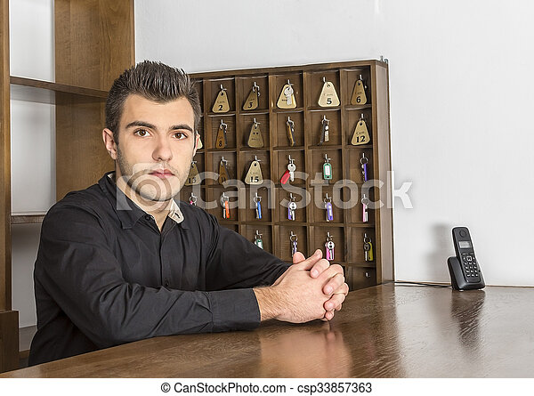 Portrait of a Receptionist - csp33857363