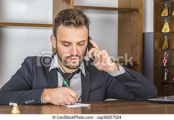 Portrait of a Receptionist - csp36257024