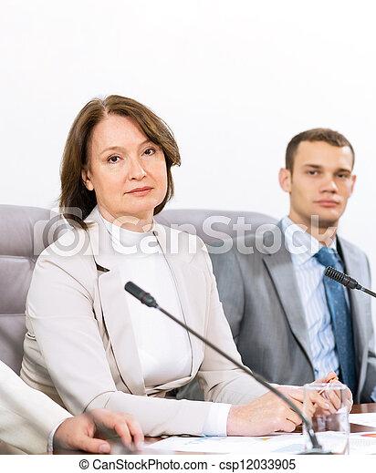 Portrait of a senior businesswoman - csp12033905