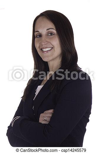 Portrait of a smiling business woman - csp14245579
