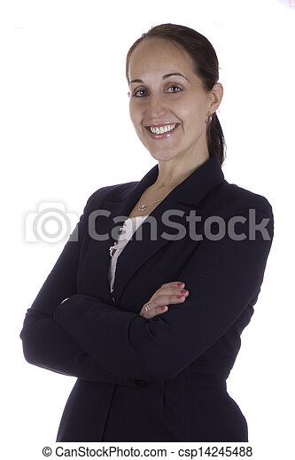 Portrait of a smiling business woman - csp14245488