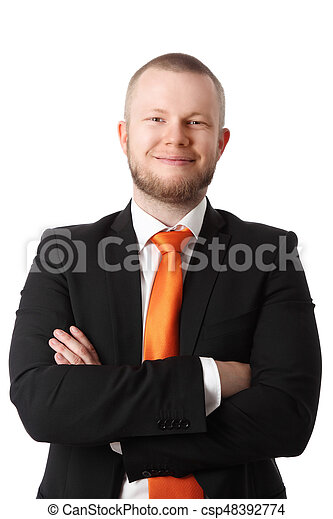 Portrait of a smiling businessman - csp48392774
