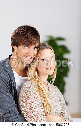 portrait of a smiling couple - csp15060735