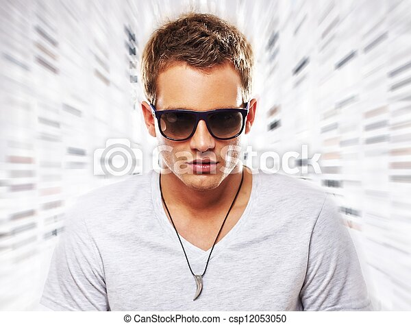 Portrait of a stylish young man - csp12053050