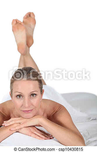 portrait of a woman in spa - csp10430815