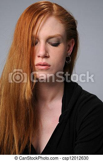 Portrait of a Woman - csp12012630