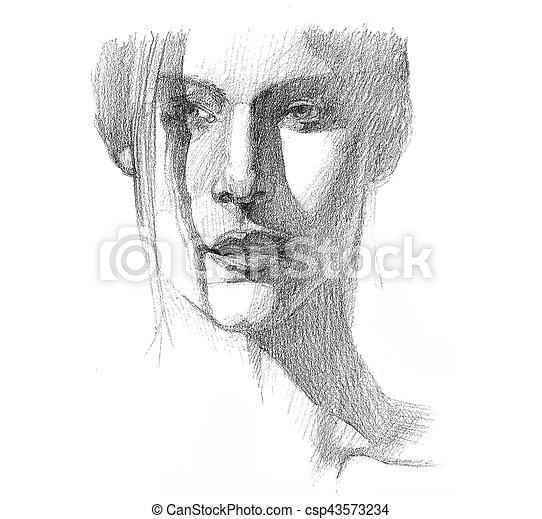 Portrait of a woman - csp43573234
