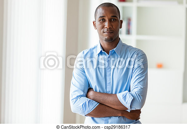 Portrait of a young African American business man - Black people - csp29186317