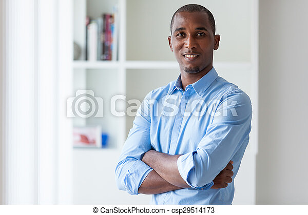 Portrait of a young African American business man - Black people - csp29514173