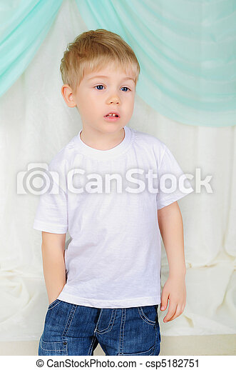 portrait of a young boy - csp5182751