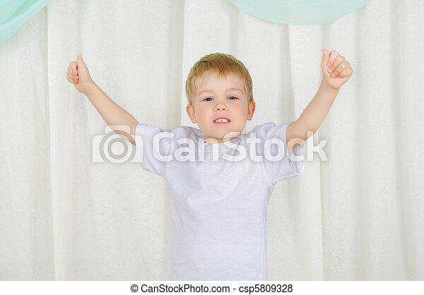 portrait of a young boy - csp5809328