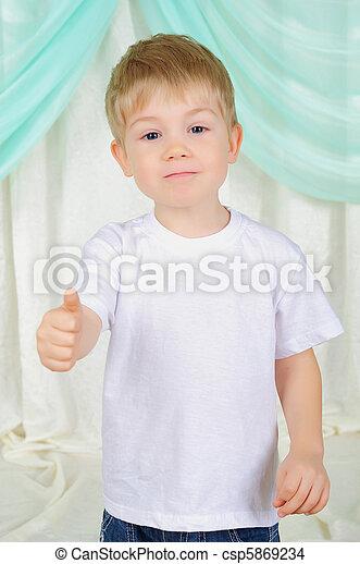 portrait of a young boy - csp5869234