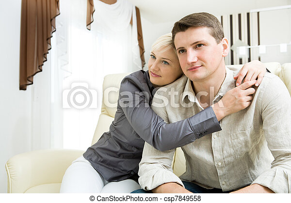 portrait of a young couple - csp7849558
