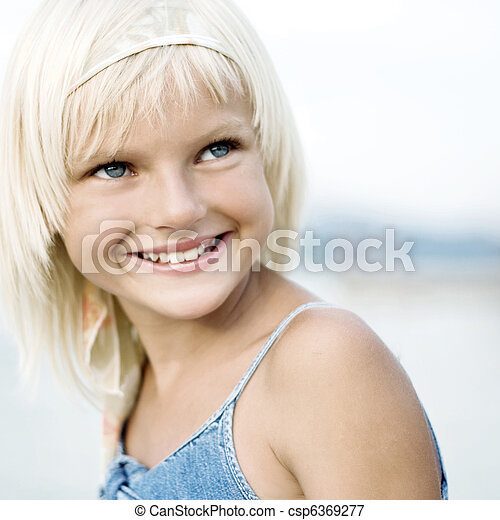 Portrait of a young girl - csp6369277