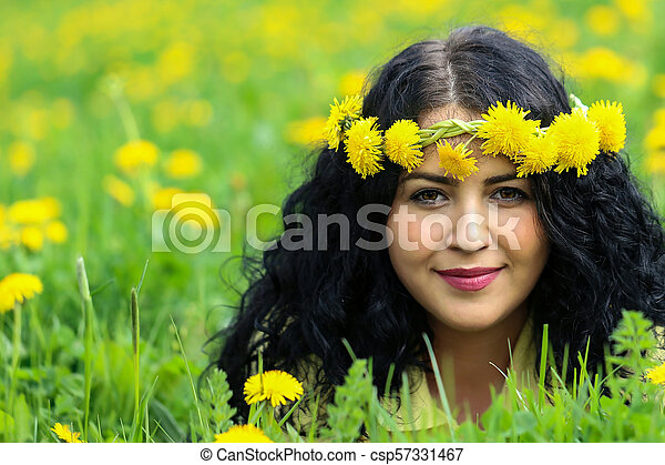 Portrait of a young girl - csp57331467
