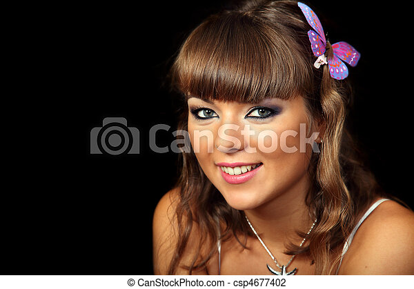 Portrait of a young girl - csp4677402