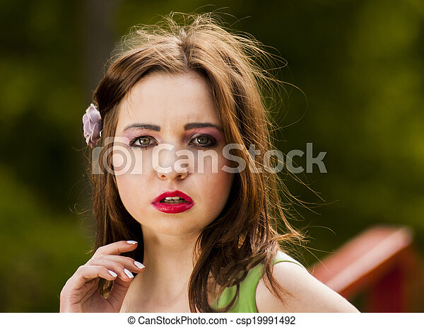 Portrait of a young girl - csp19991492