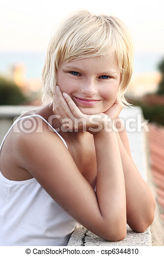 Portrait of a young girl - csp6344810