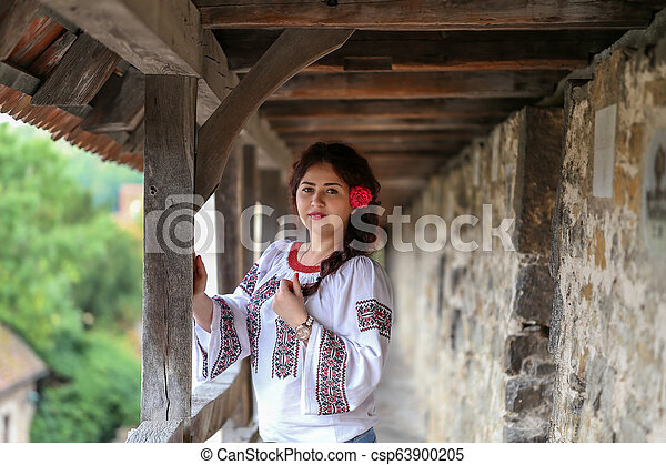 Portrait of a young girl - csp63900205
