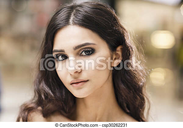 Portrait of a young stylish woman - csp30262231