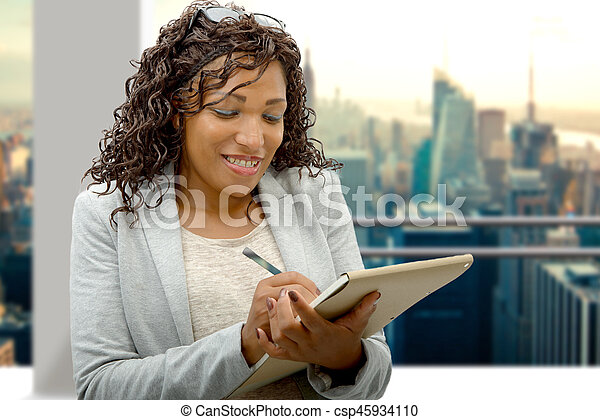 portrait of african american businesswoman - csp45934110