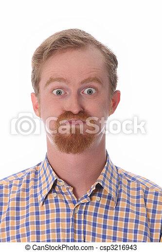 Portrait of amazed man - csp3216943