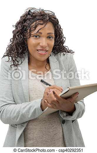 portrait of an african american businesswoman - csp40292351