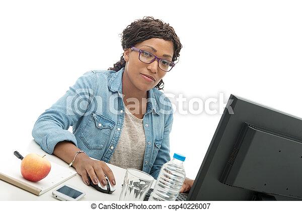 portrait of an african american businesswoman - csp40226007