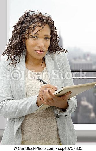 portrait of an african american businesswoman - csp46757305