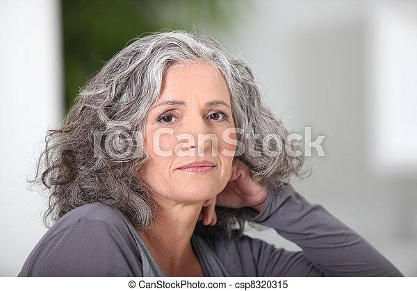 Portrait of an older woman - csp8320315